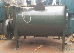 Semi-dri mixer for block factory